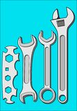 KEYS WRENCHES TOOL. Tool for tightening nuts and bolts Stock Photography