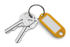 Keys and Yellow Key Chain Royalty Free Stock Image