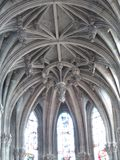 Keystone of the cathedral. White keystone of the cathedral royalty free stock photos