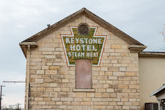 Keystone Hotel 1870 Lampasas Texas Royalty Free Stock Images