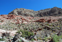 Keystone over thrust fault, Red Rock Canyon, Nevada Royalty Free Stock Photo