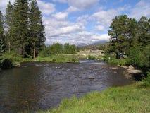 Keystone river. River in Keystone resort, Colorado, USA Royalty Free Stock Images
