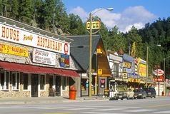 Keystone town front in SD Royalty Free Stock Photo