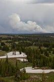 Keystone Wildfire burning in Wyoming Stock Photo