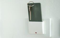 Keytag, cartão magnético no interruptor do suporte da caixa chave Imagens de Stock
