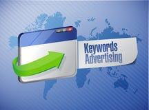 Keyword advertising browser sign illustration Stock Photo