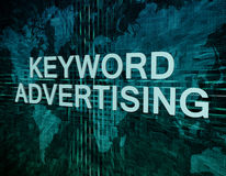 Keyword Advertising Stock Photo