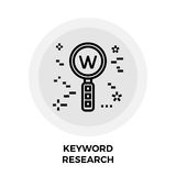 Keyword Research Line Icon. Keyword Research Icon Vector. Flat icon isolated on the white background. Editable EPS file. Vector illustration stock illustration