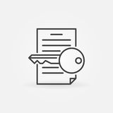 Keyword research line icon. Vector keywording symbol or logo element in thin line style vector illustration