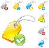 Keyword tag icon Stock Image