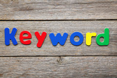 Keyword. Word made of colorful magnets royalty free stock image