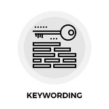 Keywording Line Icon Stock Photography