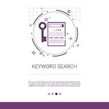 Keywording Search Web Optimization Banner With Copy Space. Vector Illustration Stock Image