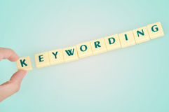 Keywording word Stock Photo