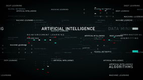 Keywords Artificial Intelligence Black. Important terms about artificial intelligence drift through cyberspace. All clips are available in multiple color options