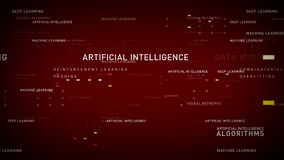 Keywords Artificial Intelligence Red. Important terms about artificial intelligence drift through cyberspace. All clips are available in multiple color options