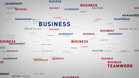 Keywords for Business White. Essential words about business drift through cyberspace. All clips are available in multiple color options and loop seamlessly stock illustration