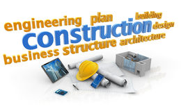 Keywords of construction industry Stock Photos
