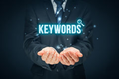 Keywords. Find keywords - SEO and SEM concept. Marketing specialist offer keywording services Royalty Free Stock Image