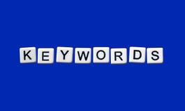 Keywords. Highlighted on white blocks Stock Images