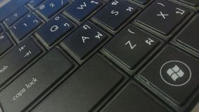 Keywords. These are the keywords of laptop these can be used for the cover of magazines Royalty Free Stock Photography