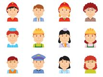 Keywords - people profession avatar part two Stock Images