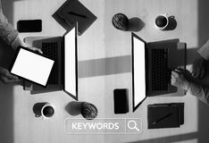 Keywords Research COMMUNICATION  research, on-page optimization,. Seo Stock Photography