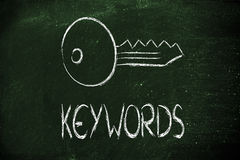 Keywords, searches and internet. Conceptual design of keywords and online searches Royalty Free Stock Photography