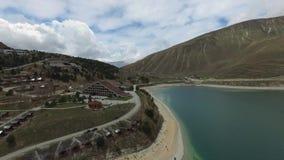 Озеро Kezenoy до полудня большая возвышенность chechnya russ акции видеоматериалы
