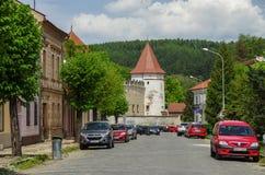 Kezmarok, Словакия - 15-ое мая 2013: Замок Thokoly в Kezmaro Стоковое фото RF