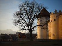 Kezmarok Castle - ηλιοβασίλεμα, Σλοβακία στοκ εικόνα