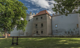 Kezmarok castle in summer morning royalty free stock photos