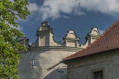 Kezmarok castle in summer morning. Kezmarok castle in summer sunny hot morning stock photos