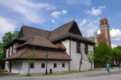 Kezmarok, Eslováquia - 15 de maio de 2013: Igreja de madeira do protestante (Dr. Imagem de Stock