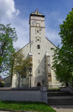 Kezmarok, Slovakia - Medieval basilica of the Holy Cross - bell. Tower royalty free stock image