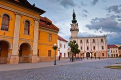 Kezmarok, Slovakia. Town hall and the main square in the town of Kezmarok, Slovakia Royalty Free Stock Image