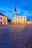 Kezmarok, Slovakia. Town hall and the main square in the town of Kezmarok, Slovakia stock image