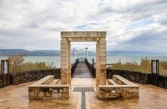 Kfar Nahum Capernaum National Park, Sea of Galilee, Israel stock images