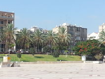 Kfar Saba. A city in the center of the country, full of green areas Royalty Free Stock Images