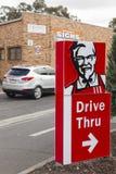 KFC drive through sign stock photography