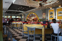KFC fast food cafe interior Royalty Free Stock Image