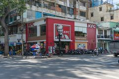 KFC fast food chain restaurant in Ho Chi Minh City, Vietnam royalty free stock photos