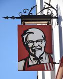 KFC Hanging Sign royalty free stock images