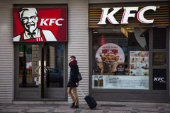 KFC Kentucky Fried Chicken fasta food restauracja Obrazy Stock