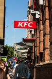 KFC Kentucky fried chicken restaurent. A depiction of the famous fast food chain located on Georges street in Sydney CBD Stock Images