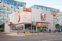 KFC restauracyjny budynek w Moskwa 13 07 2018 Fotografia Royalty Free