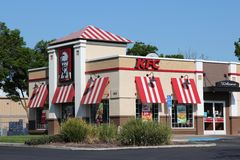 KFC restaurang Royaltyfri Foto
