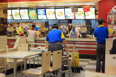 KFC restaurant. Beijing KFC restaurant interior scenes Stock Images