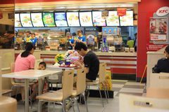 KFC restaurant. Beijing KFC restaurant interior scenes Stock Photo