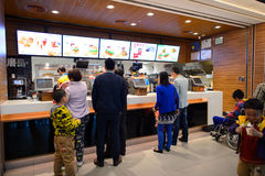 KFC restaurant interior Stock Photography